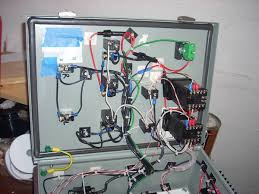 my 2 pid 2 ssr control panel build home brew forums here s 2 views of the finished wiring in the enclosure