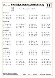 solving linear equations worksheets pdf equation math andbra maths solving andbra medium size