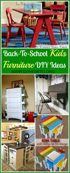easy diy furniture ideas. DIY Back-To-School Kids Furniture Ideas Projects: Easy To Make Kids Desks Easy Diy Furniture Ideas H
