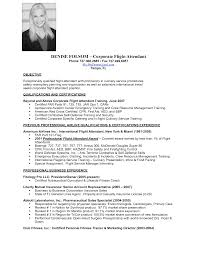 resume flight attendant .