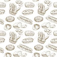 Hand Drawn Illustration Bakery Seamless Wallpaper