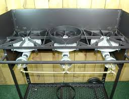 wok propane burner custom for low pressure propane using 3 hr each burner with a notch