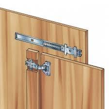 concealed sliding cabinet door