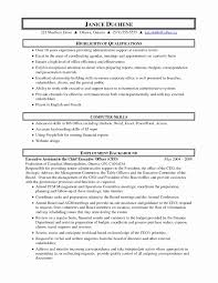 Executive Assistant Resume C Level Executive assistant Resume Sample Lovely Executive 28