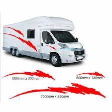 Camper Van Graphics Design 2m Motorhome Vinyl Graphics Stickers Decals Set Camper Van