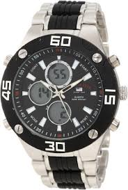 amazon com u s polo assn classic men s us8532 silver tone and amazon com u s polo assn classic men s us8532 silver tone and black analog digital watch watches