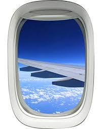 airplane window. Fine Window Airplane Window Decal Wing Sky Clouds Mural Peel And Stick Aviation Decor  VWAQA02 For