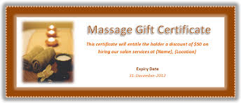 gift certificates format massage gift certificate template massage therapy gift certificate