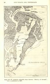 Love This 1847 Map Of Saint Simons Island It Is Really