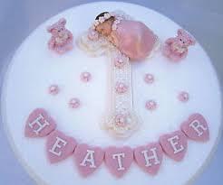Edible Cross Baby Girl Personalised Christening Baptism Cake