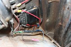 wiring for dummies the 1947 present chevrolet gmc truck the top red wire that connects to the horn relay is from the battery the brown wire coming out of the harness at the bottom of the picture is from the