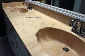 refinish bathroom countertop bathroom counter in cultured marble before refinishing painting bathroom countertops to look like