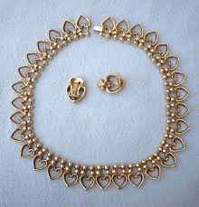 Trifari Alfred Philippe Designs Alfred Philippe For Trifari Queen Of Hearts Choker Necklace And Earring Set Designer Vintage