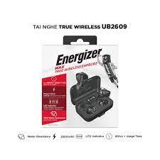 Mã ELMALLCOIN hoàn 8% xu đơn 499K] Tai nghe True Wireless Energizer UB2609  tích hợp sạc dự phòng, Bluetooth V5.0, IPX4
