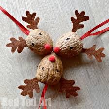 Walnut Crafts Reindeer Ornament Basteln Weihnachten
