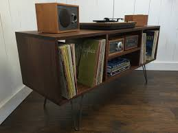 Cabinet Record Player Record Storage Etsy