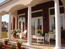 Porch Design Ideas elegant front porch with columns and no railing