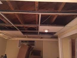 drop ceiling vs bare ceiling