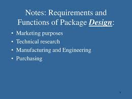 Functions Of Package Design Ppt Unit 2 Food Packaging Food Labels And Designing A