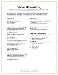 a resume layout modern resume templates 64 examples free download