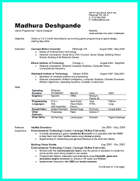 Resume For Internship In Computer Science Resume For Your Job