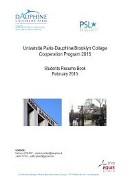 Calameo Universite Paris Dauphine Brooklyn College Cooperation