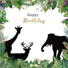 <b>Laeacco</b> Cartoon Jungle Animals Flowers Frame Baby <b>Birthday</b> ...