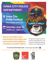 Coffee With A Cop Flyer Join Police Officers For Coffee With A Cop At Iowa City
