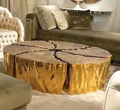 tree stump coffee table with glass top coffee table gold tree trunk coffee table cool tree