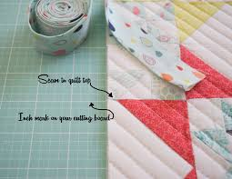Binding – Where do you start? {A Tutorial} – She Quilts Alot & Find a seam in the quilt that is somewhere in the middle of one side and  then line that seam up really well with one of the inch marks on the  cutting mat. Adamdwight.com