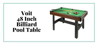 voit 48 inch billiards pool table