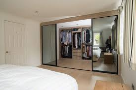 sliding door walk in wardrobe middle doors open