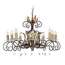 amarilli 10 light chandelier bronze gold