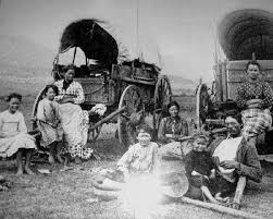 pioneers of the west. covered wagons pioneers of the west i