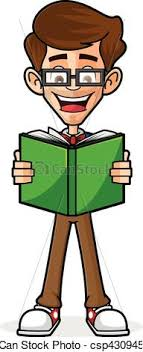 nerd guy reading book csp43094531
