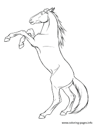 Horse Coloring Picture Free Horse Coloring Pages Mustang Carousel