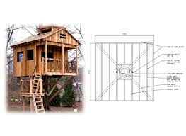 10' Square Treehouse Plan