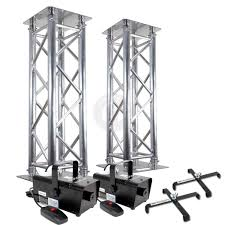 diy lighting truss. 2x-Professional-DJ-Lighting-Stands-Silver-Truss-Podium- Diy Lighting Truss