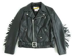 ショットシュプリーム chief tassel perfect jacket fringe back design double leather riders jacket black m