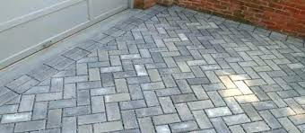 Herringbone Pattern Pavers Extraordinary Herringbone Pattern Pavers Concrete Driveways Patterns