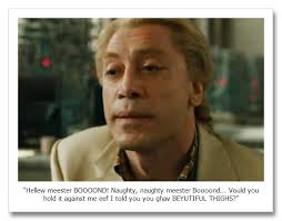 ... badly Bardem's character, Raoul Silva, is modelled on Heath Ledger's Joker in The Dark Knight. In simple terms, Skyfall is 143 minutes of fence-sitting. - article-1350474814918-1580BF5C000005DC-888705_466x310