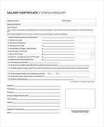 Employee Working Certificate Format Unique Salary Certificate Formats 48 Free Word Excel PDF Documents