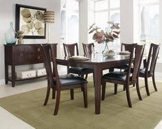standard furniture park avenue ii 7 piece dining table set with v shaped splat back