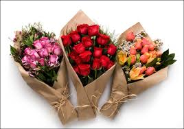 3 bouquets of 12 roses each pink red orange