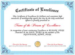 Award Of Excellence Certificate Template Adorable Certificate Creator CertificateFun Great Website Where You