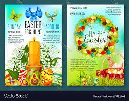 Easter Egg Hunt Invitation Flyer Template