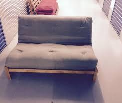 futon : Furniture Brown Black Velver Loveseat Sofa Bed With Arm Ad ...
