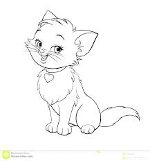 Large Coloring Pages Realistic Kitten Coloring Pages Free Library