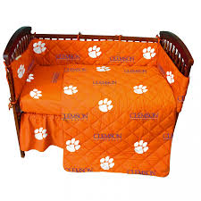 clemson tigers 5 piece baby crib set