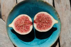 Image result for figs on blue wooden table